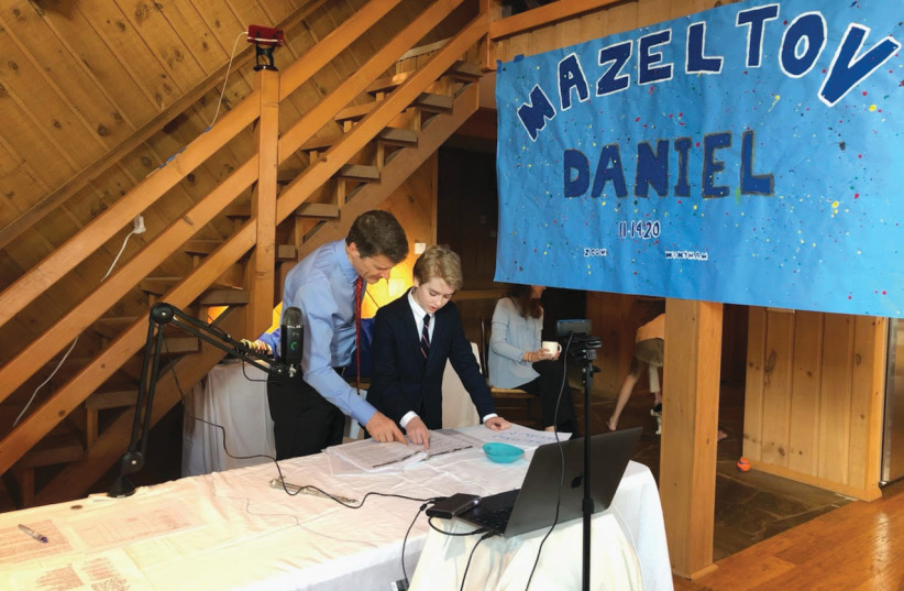 DANIEL BREGMAN'S bar mitzvah on Zoom: There were all these people we could invite – Israeli friends and family in England and France who would have never been able to come. (photo credit: Courtesy)