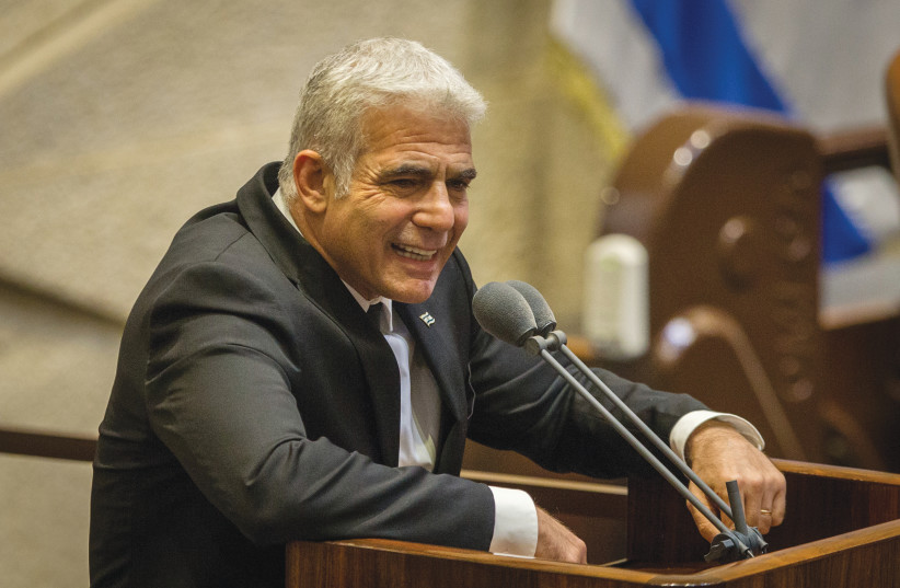 MK YAIR LAPID: Arab parties deserve being part of decision-making process. (photo credit: OREN BEN HAKOON/FLASH90)