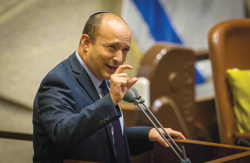 MK NAFTALI BENNETT in the Knesset – he spoiled it all.  (photo credit: OREN BEN HAKOON/FLASH90)