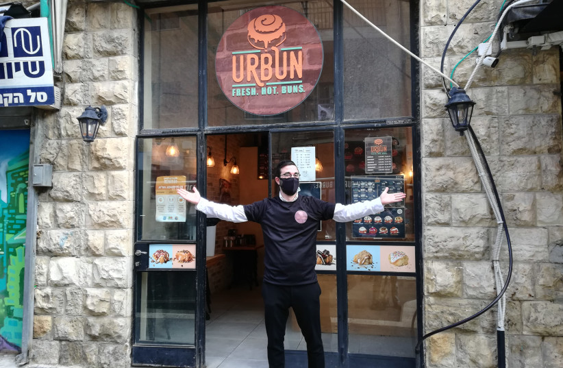 Doni Silverstein, Owner of Urbun Cafe (photo credit: ZEV STUB)