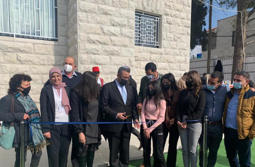 Jerusalem Mayor Moshe Lion inaugurates the new Youth Center in Shuafat, east Jerusalem, Tuesday, March 2, 2021.  (photo credit: JERUSALEM MUNICIPALITY)