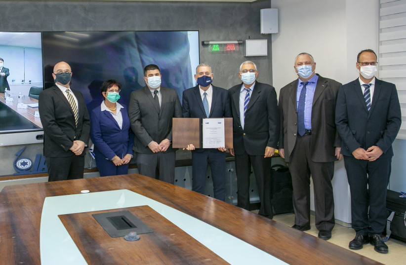 IAI, Korea Aerospace Industries sign a MOU for manned & unmanned teaming systems (photo credit: IAI)