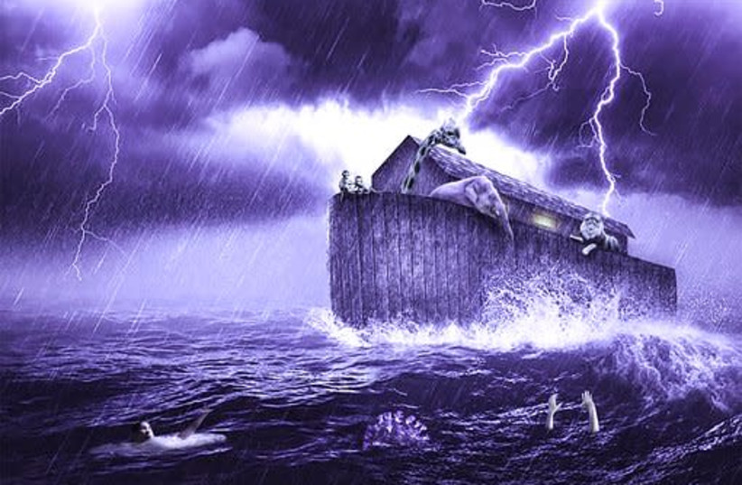 Great flood from the Bible. (photo credit: PIXABAY)