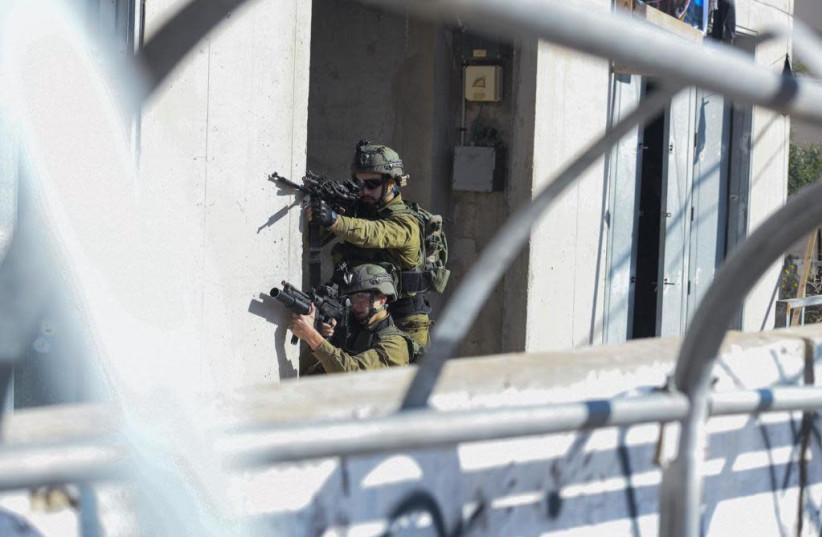IDF soldiers complete urban warfare training at the Israel National Urban Training Center in Tze'elim (photo credit: IDF SPOKESPERSON'S UNIT)