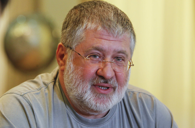 Ihor Kolomoyskyy speaks during an interview in Dnipropetrovsk May 24, 2014.  (photo credit: REUTERS/VALENTYN OGIRENKO)