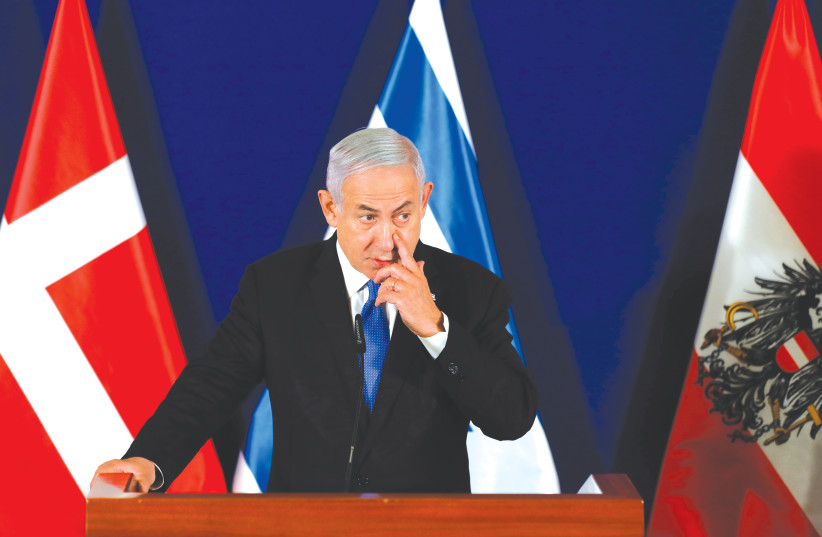 PRIME MINISTER Benjamin Netanyahu speaks during a press conference at Jerusalem's King David Hotel last week.  (photo credit: OLIVIER FITOUSSI/FLASH90)