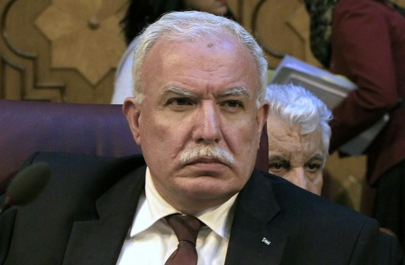 Palestinian Foreign Minister Riyad al-Malki  (photo credit: REUTERS)