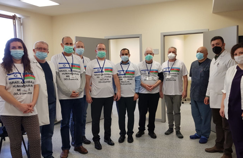 Members of the Israeli delegation to help wounded Azeri soldiers regain their sight. (photo credit: DR. YISHAY FALICK)