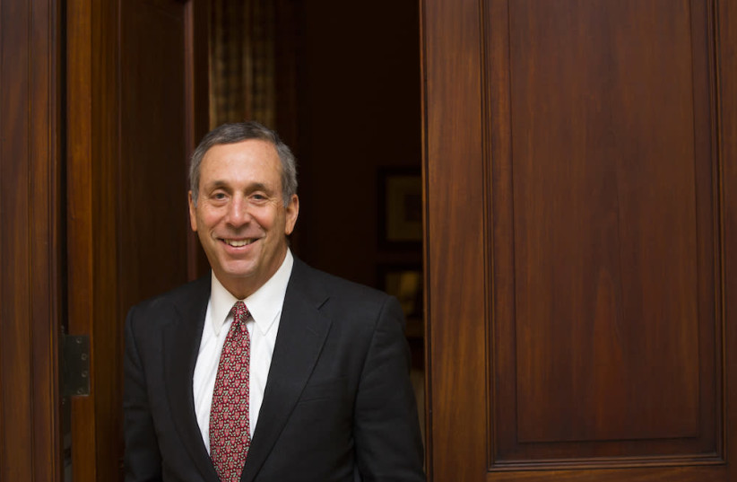 Harvard President Lawrence Bacow (photo credit: UNIVERSITY OF HAIFA)