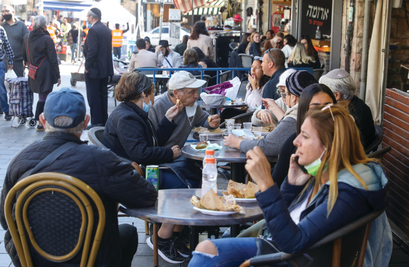 PACKED WITH patrons in Mahaneh Yehuda. (photo credit: MARC ISRAEL SELLEM)
