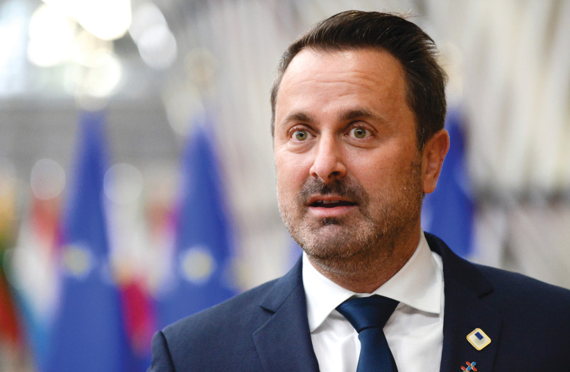 LUXEMBOURG PRIME MINISTER Xavier Bettel: 'I am the one who needs to take responsibility today.'  (photo credit: REUTERS)