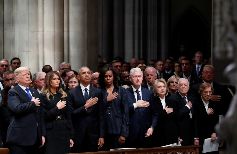 Funeral service for the former U.S. President George H.W. Bush in Washington (photo credit: REUTERS)