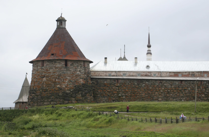 THE SOLOVETSKY Monastery in northern Russia is known as the 'mother of the Gulag,' having been converted into a Soviet prison and labor camp and used as a model for other such camps during the Stalin era (photo credit: CONOR SWEENEY/REUTERS)