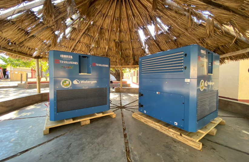 The Watergen devices donated to Colombia. (photo credit: WATERGEN)