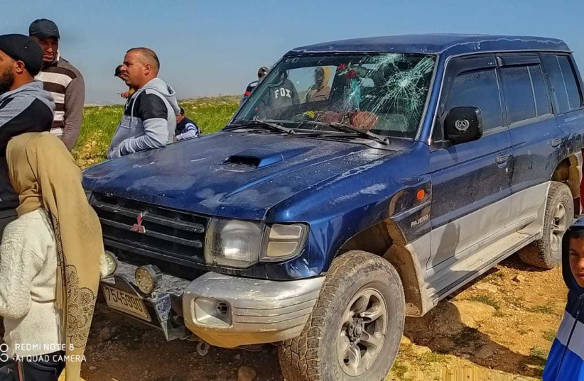 West Bank violence left three Palestinians injured Saturday by both Jewish extremists and the IDF during an incidents in the South Hebron Hills and Samaria region. March 13, 2021. (photo credit: B'TSELEM)