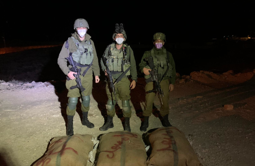 IDF officals link the success in thwarting drug smuggling through the Egyptian border to rise of crime in the Bedouin sector inside Israel (photo credit: IDF)