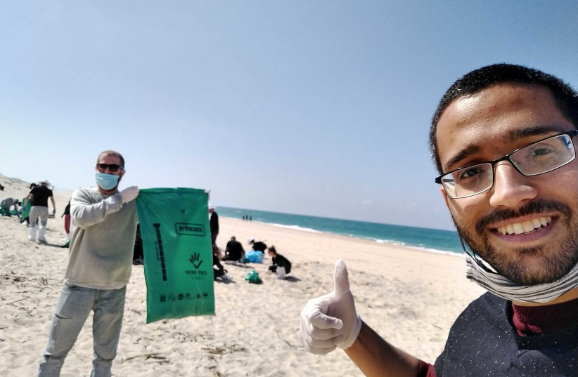 Riskified's beach cleanup day. (photo credit: Courtesy)