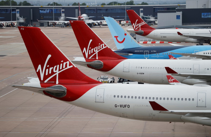 Virgin Airlines. (photo credit: REUTERS/PHIL NOBLE)