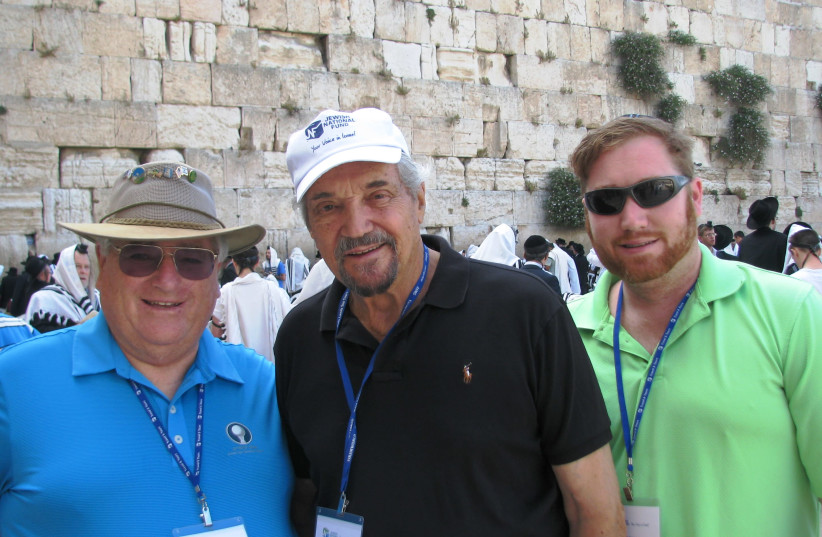 Hal Linden on a JNF-USA mission in Israel (photo credit: JNF USA)