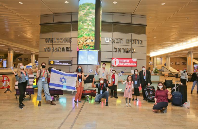 New Olim at BGA make Aliyah during Corona  (photo credit: YONIT SCHILLER)