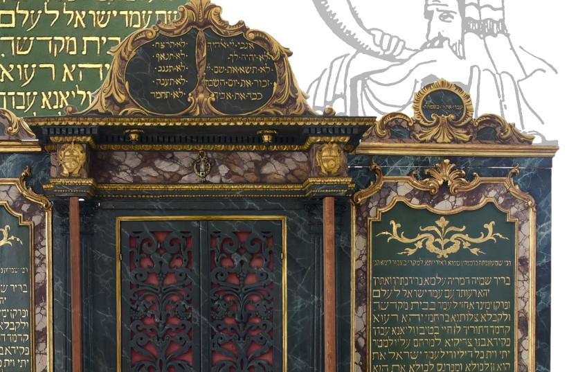 400-year-old Aron HaKodesh fully restored by Vercelli Jewish community (photo credit: JEWISH COMMUNITY OF VERCELLI)