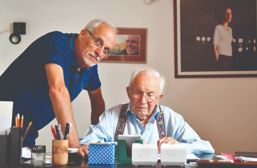 DOUXMATOK CEO Eran Baniel and his father, Avraham Baniel, who created the patent.  (photo credit: DOUXMATOK)
