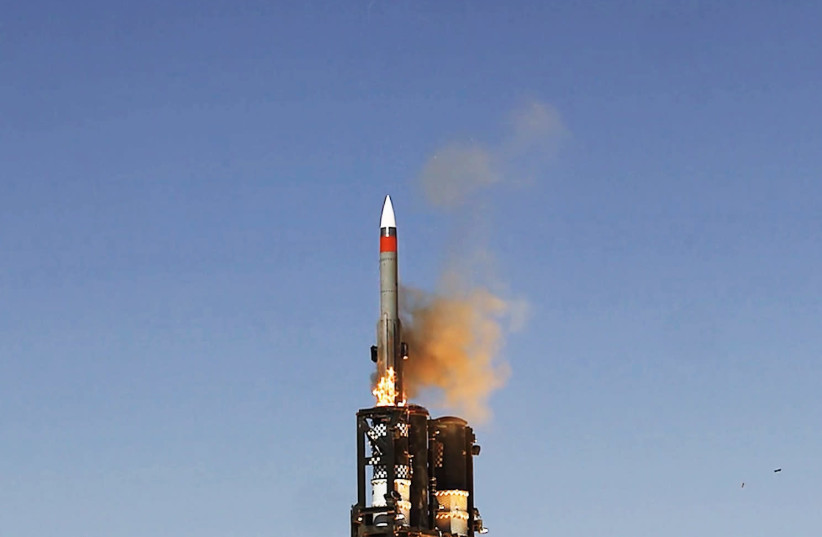 Barak ER Launching in Trial (photo credit: ISRAEL AEROSPACE INDUSTRIES)