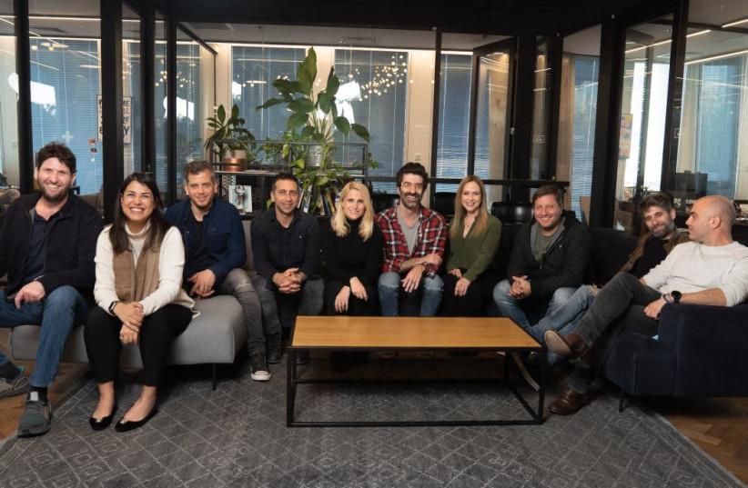IronSource's management team (photo credit: ADAM FRIMER)