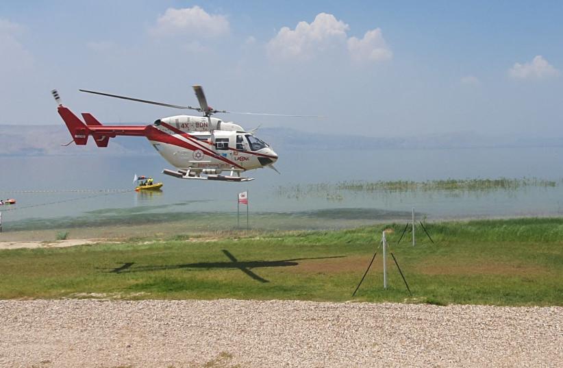An MDA chopper at the Kinneret.  (photo credit: MDA)