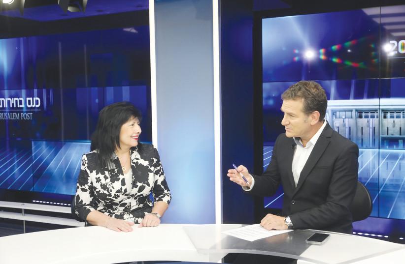 DR. ETI LUZZATTO speaks with journalist Dany Cushmaro last week.  (photo credit: MARC ISRAEL SELLEM/THE JERUSALEM POST)