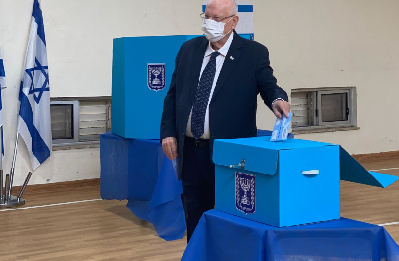 President Reuven Rivlin cast his vote in the March 2021 elections. (photo credit: Courtesy)