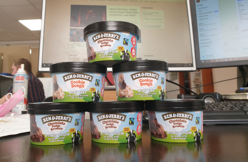 Ben & Jerry's - thanks for the ice cream! (photo credit: Courtesy)