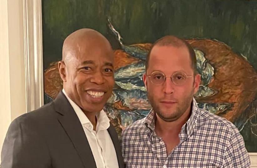 Eric Adams and Rotem Rosen (photo credit: JPOST STAFF)