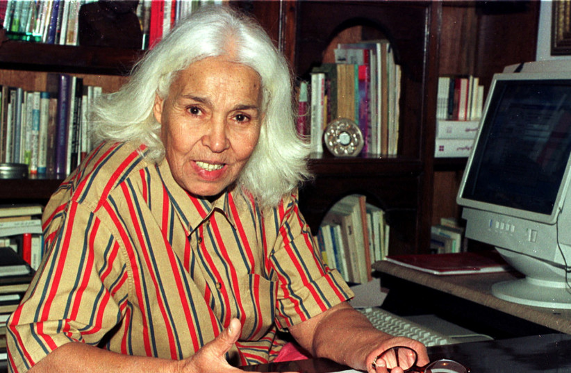 Egyptian writer Nawal el-Saadawi during an interview with Reuters in Cairo May 23, 2001.  (photo credit: REUTERS)
