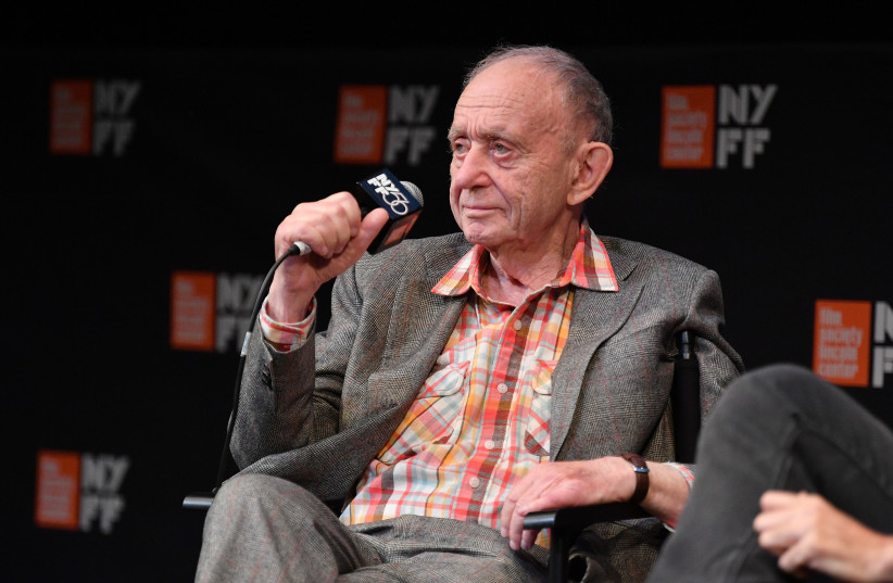 "Director Frederick Wiseman speaks at a screening of his film ""Monrovia, Indiana"" during the 56th New York Film Festival, Sept. 30, 2018.  (photo credit: DIA DIPASUPIL / GETTY IMAGES NORTH AMERICA / AFP)"