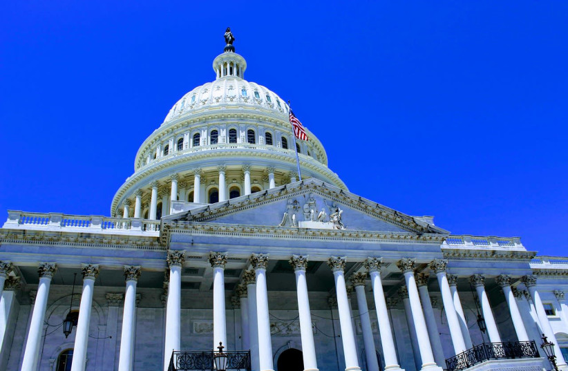 The US Capitol building, which contains the House of Representatives and the Senate. (photo credit: PIXABAY)