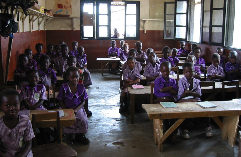 The library in Elmina, Ghana, will function as a new service of STEM education thanks to ORT   (photo credit: Courtesy)