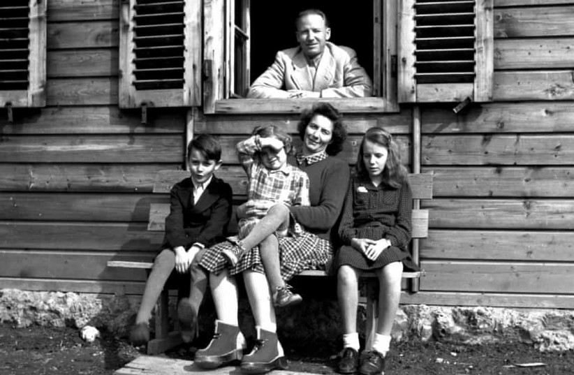 Otto Wächter, the Nazi governor of Galicia, and his family, 1948. (photo credit: HORST WÄCHTER/KNOPF)