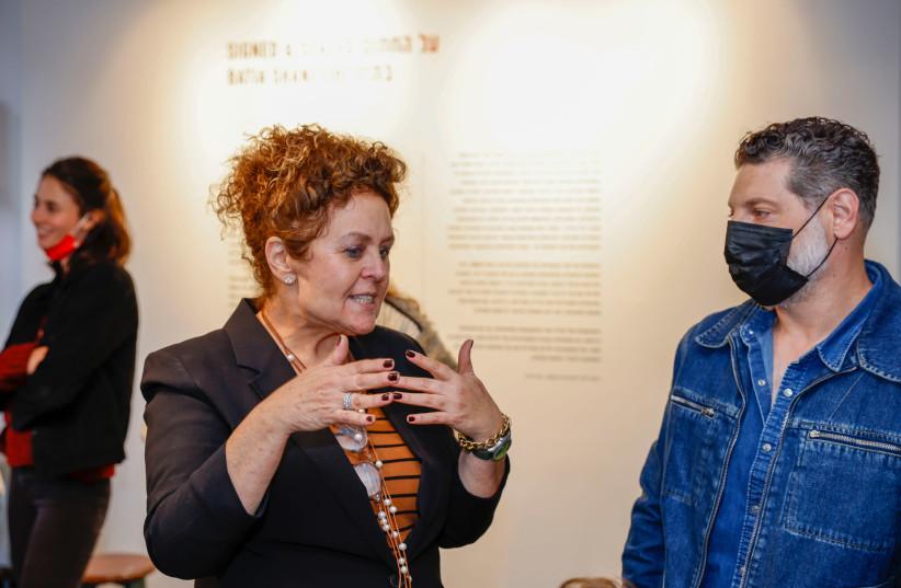 Artist Batia Shani with chef Assaf Granit (photo credit: Courtesy)