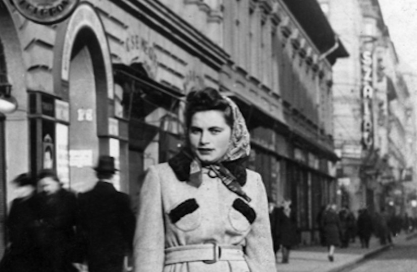 Renia Kukiełka in Budapest, 1944 (photo credit: COURTESY OF MERAV WALDMAN VIA JTA)