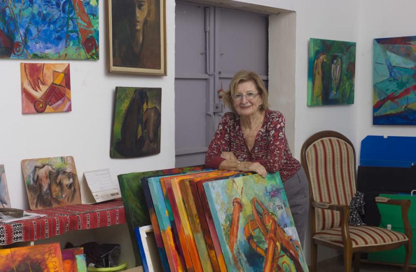 Shulamit Carmi in her studio. (photo credit: RAN EROLE)