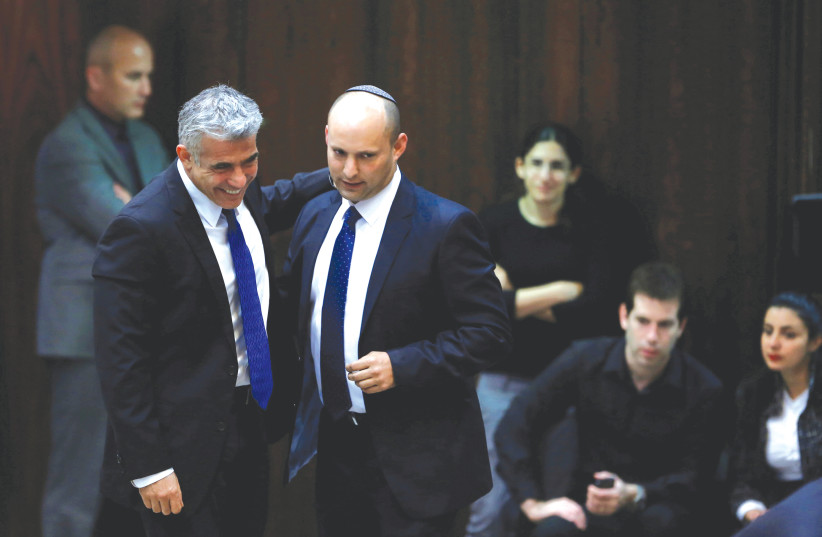 Naftali Bennett and Lapid meet on forming new gov't, talks to continue