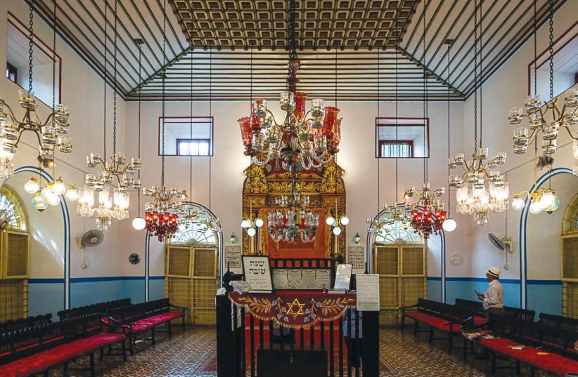 THE KADAVUMBAGAM Ernakulam Synagogue in Kochi, India (photo credit: JOSHUA SHAPURKAR)