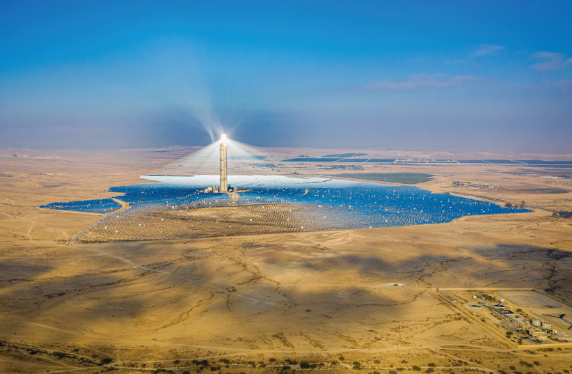 THE ASHALIM solar power station in the Negev. (photo credit: YONATAN SINDEL/FLASH 90)
