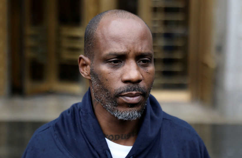 Rapper DMX exits the US Federal Court in Manhattan following his presentment on income tax evasion charges in New York (photo credit: REUTERS)
