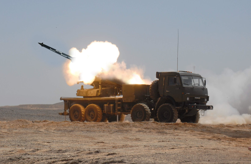 Elbit's EXTRA rocket system. (photo credit: ELBIT SYSTEMS)