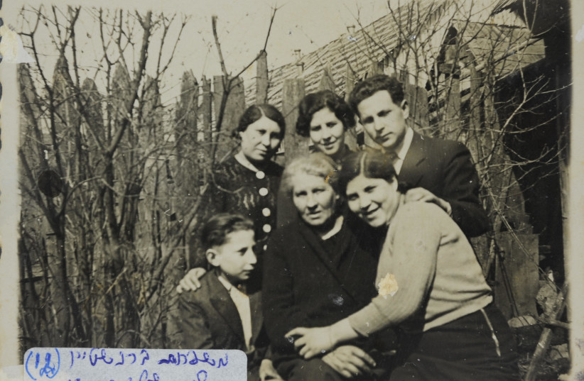 The Bernstein Family from Ylakiai in Lithuania during the Holocaust. (photo credit: COURTESY OF YAD VASHEM ARTIFACTS COLLECTION)