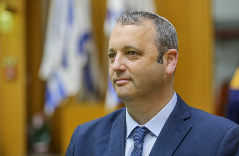 abbi Gilad Kariv, the director of the Reform movement in Israel attends preparations for the new Knesset on April 5.  (photo credit: MARC ISRAEL SELLEM)