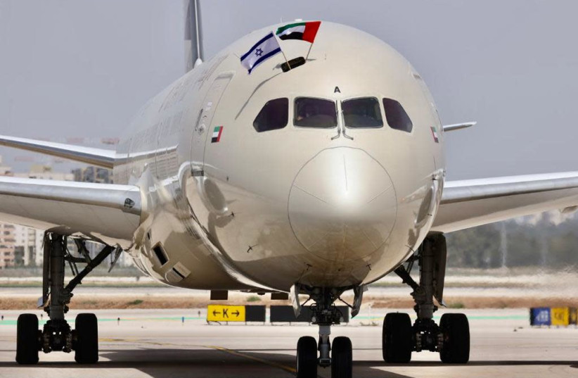 Etihad Airways Flight EY598 (photo credit: AVSHALOM SASSONI)