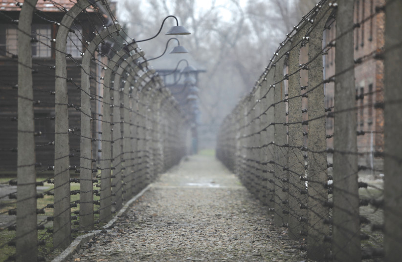 A ONCE-DEADLY electrified barbed wire fence surrounds the site of the former Nazi Auschwitz death camp in Poland. (photo credit: KACPER PEMPEL/REUTERS)